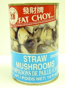 Fat Choy Straw Mushroom (borken)