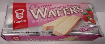 Garden Strawberry Cream Wafer